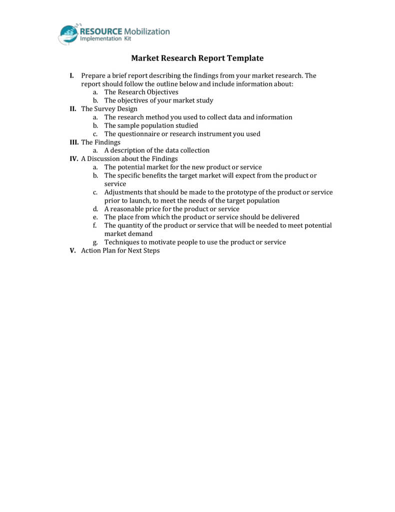 Market Research Report Template For Market Research Report Template