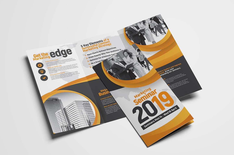 Marketing Seminar Tri Fold Brochure Template – Psd, Ai With 3 Fold Brochure Template Psd