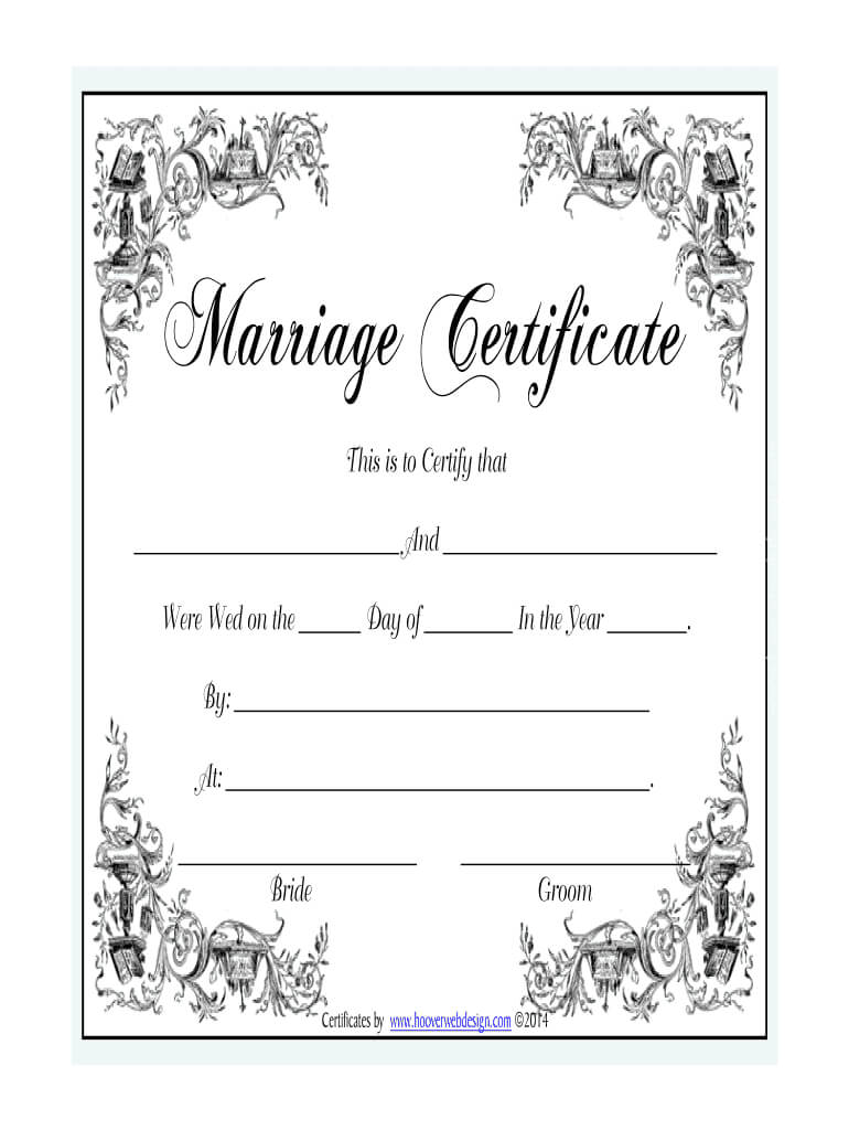 Marriage Certificate - Fill Online, Printable, Fillable Regarding Blank Marriage Certificate Template