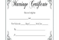 Marriage Certificate – Fill Online, Printable, Fillable with regard to Certificate Of Marriage Template