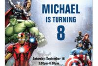 Marvel | Avengers – Birthday Invitation | Zazzle pertaining to Avengers Birthday Card Template