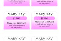 Mary Kay Birthday Certificates | Mary Kay Gift Card I Would regarding Mary Kay Gift Certificate Template