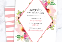 Mary Kay Gift Certificate! Find It Only At Www.thepinkbubble intended for Mary Kay Gift Certificate Template