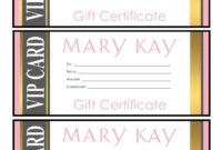 Mary Kay Gift Certificates – Please Email For The Full Pdf regarding Mary Kay Gift Certificate Template