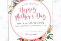 Mary Kay Mother's Day Gift Certificate! Find It Only At Www pertaining to Mary Kay Gift Certificate Template