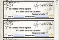 Mary Kay Star Certificates | New Star Gift Certificate regarding Mary Kay Gift Certificate Template