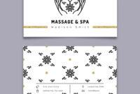 Massage And Spa Therapy Business Card Template In Massage Therapy Business Card Templates