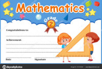 Mathematics Diploma Certificate Template Illustration in Math Certificate Template