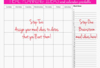 Meal Plan For Two Weeks And Only Grocery Shop Once | Meal intended for Meal Plan Template Word