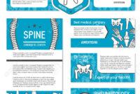 Medical Banner Set Of Orthopedics And Rheumatology Medicine Template with Medical Banner Template