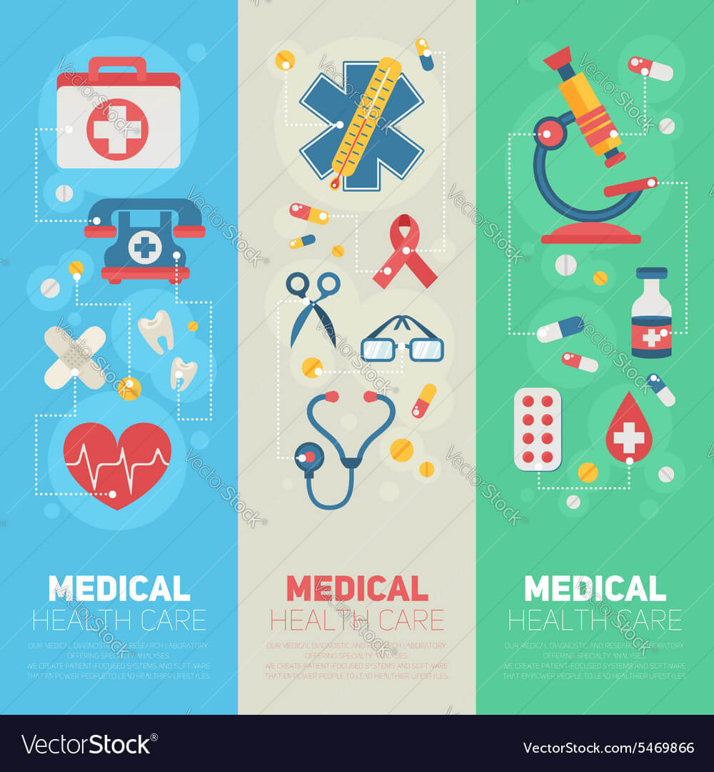 Medical Banners Templates In Trendy Flat Style Intended For Medical Banner Template