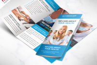 Medical Care And Hospital Trifold Brochure Template Free Psd with 3 Fold Brochure Template Free
