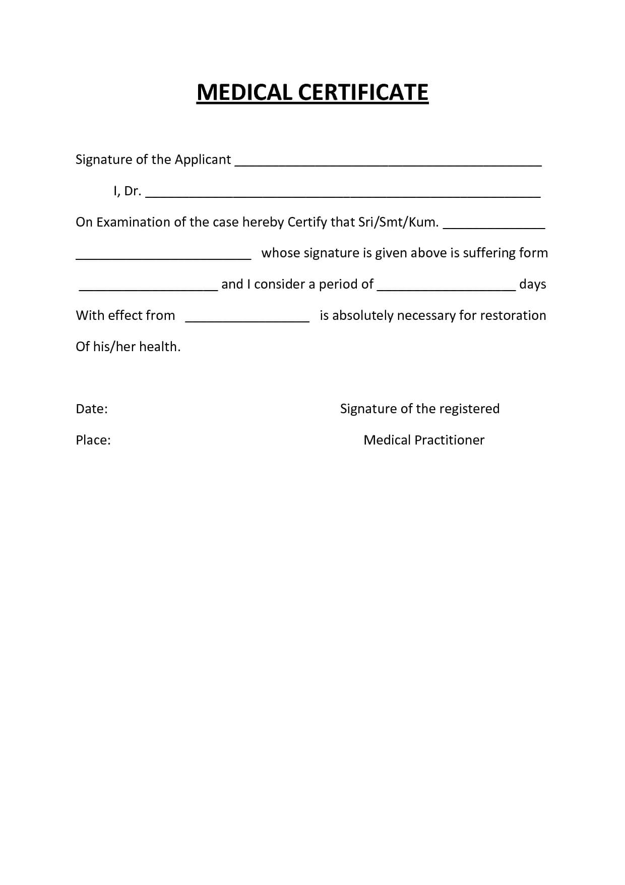 Medical Certificate Template Australia Fake Doctors Note Intended For Australian Doctors Certificate Template