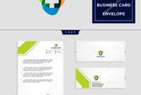 Medical Cross Logo Template Vector Illustration Free regarding Business Card Letterhead Envelope Template