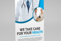 Medical Health Roll-Up Banner Template. This Layout Is inside Medical Banner Template