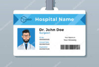 Medical Id Card Template | Doctor Id Card Template. Medical with regard to Personal Identification Card Template