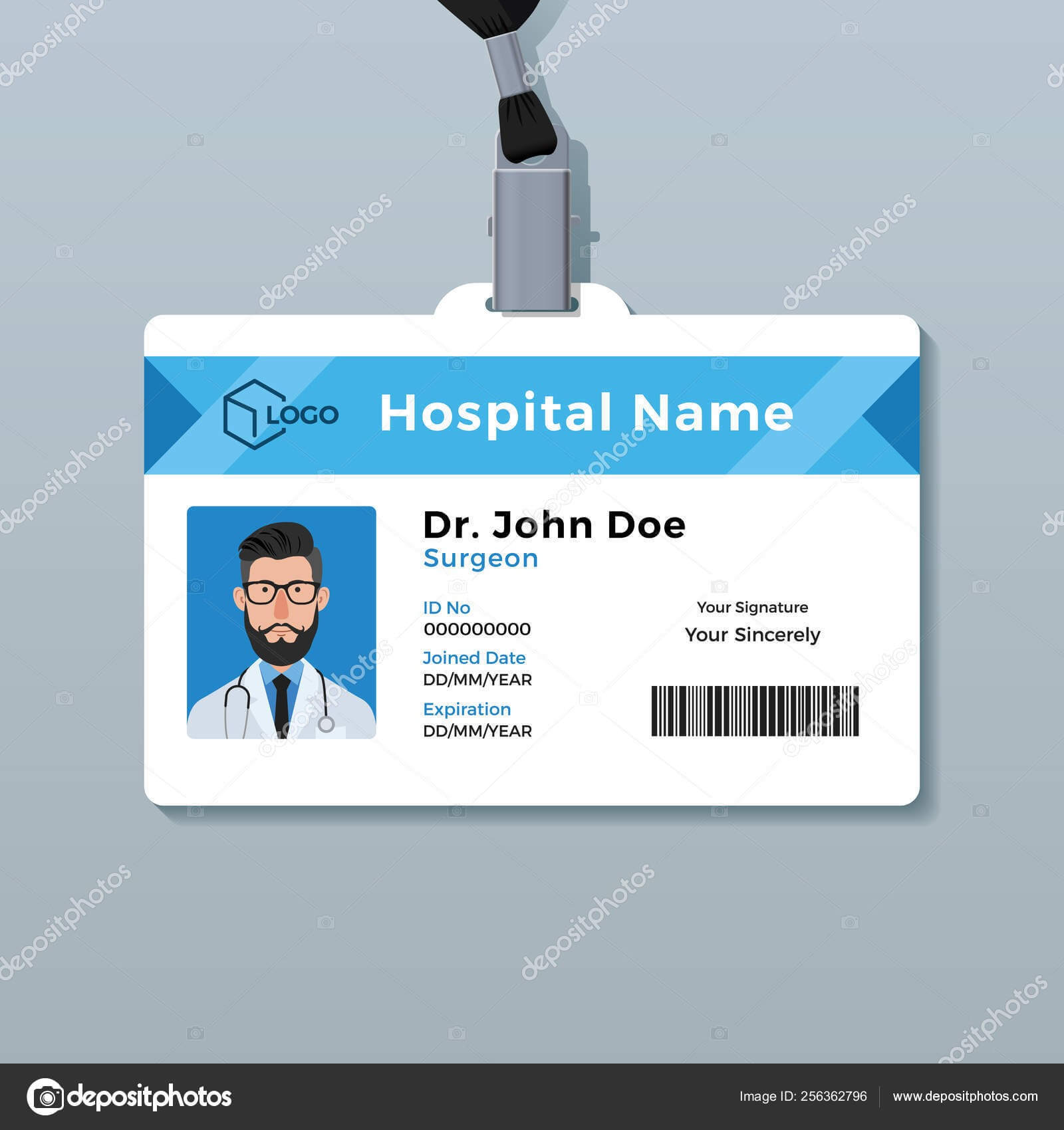 Medical Id Card Template | Doctor Id Card Template. Medical Within Doctor Id Card Template