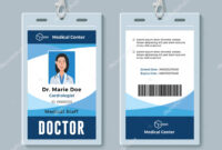 Medical Id Cards Template   Doctor Id Badge. Medical inside Hospital Id Card Template