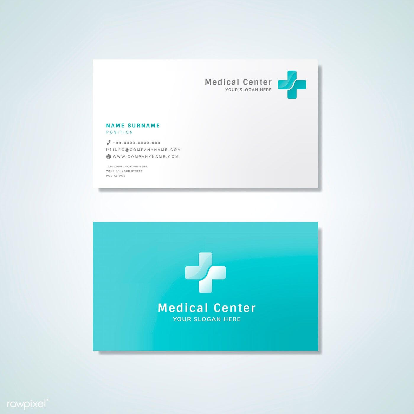 Medical Professional Business Card Design Mockup | Free With Regard To Medical Business Cards Templates Free