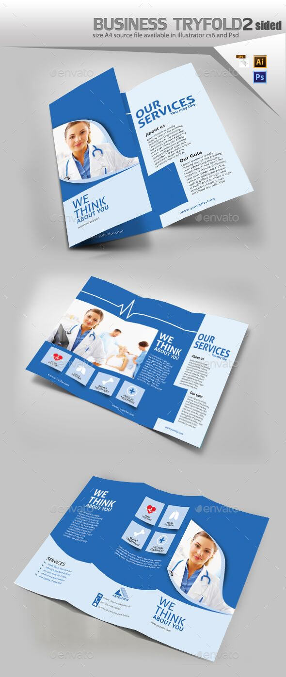 Medical Trifold Brochure | Graphics | Brochure Design Regarding Medical Office Brochure Templates