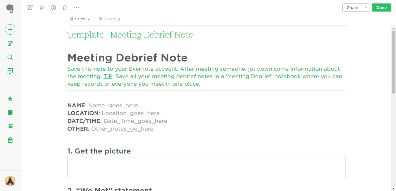 Meeting Debrief Evernote Templates | Evernote Template Regarding Debriefing Report Template
