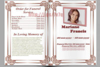 Memorial Service Program Template Download … | Funeral Pertaining To Memorial Brochure Template