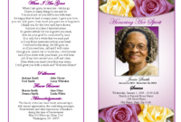 Memorial Service Programs Sample | Choose From A Variety Of for Remembrance Cards Template Free