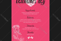 Menu Template For Valentine Day Dinner with Frequent Diner Card Template