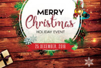 Merry Christmas 2018 – Free Psd Flyer Template – Free Psd intended for Christmas Brochure Templates Free