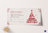 Merry Christmas Gift Certificate pertaining to Merry Christmas Gift Certificate Templates