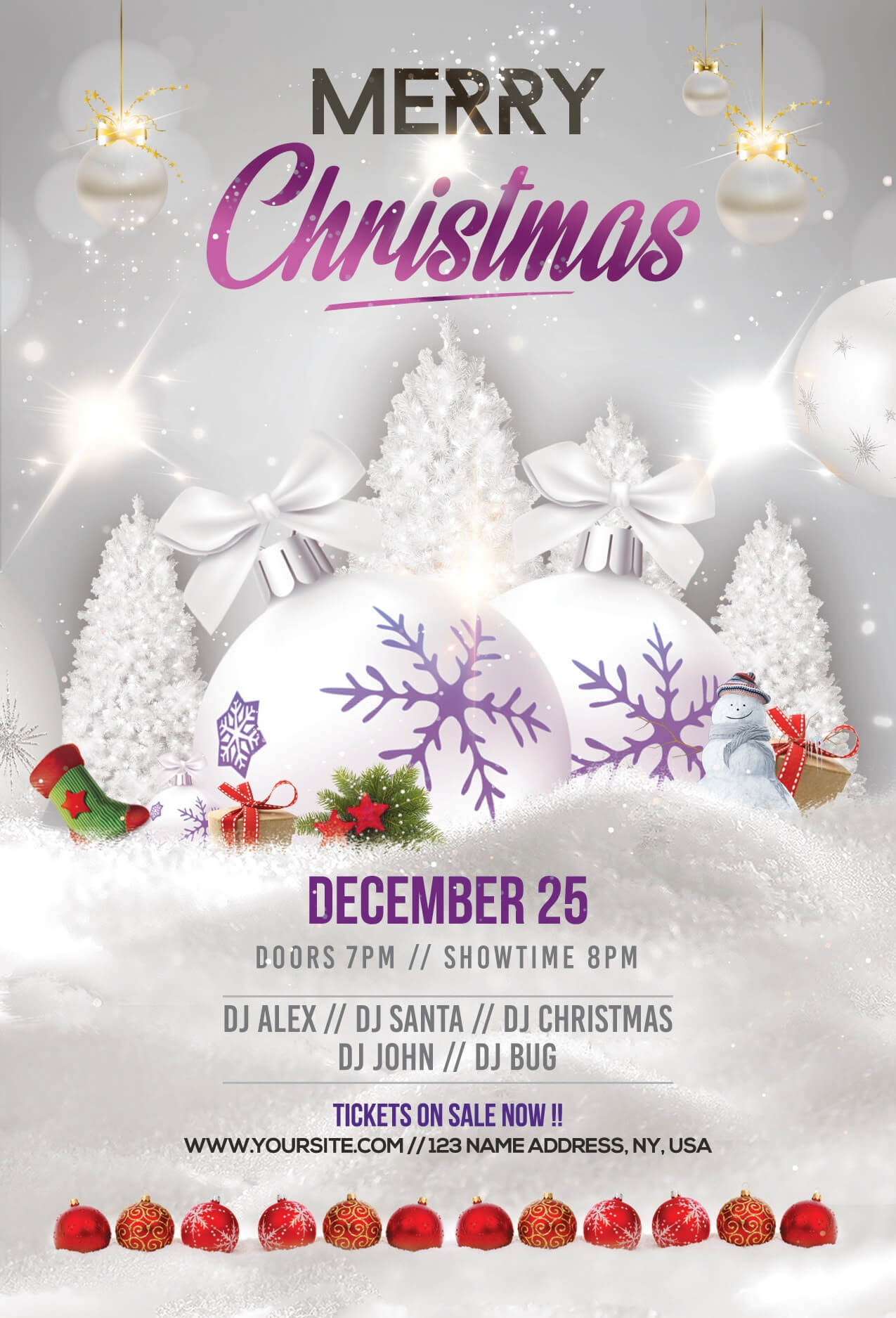 Merry Christmas & Holiday Free Psd Flyer Template - Free Psd In Christmas Brochure Templates Free