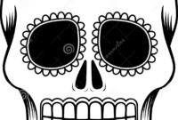 Mexican Sugar Skull Template Stock Vector – Illustration Of throughout Blank Sugar Skull Template