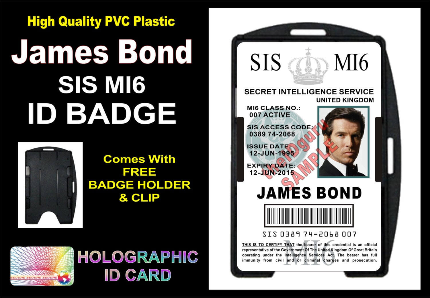 Mi6 Id Card Template ] - James Bond 007 Mi5 Id Badge Card Gt With Regard To Mi6 Id Card Template