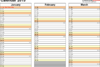 Microsoft Excel Calendar Template 2015 – Ironi.celikdemirsan in Powerpoint Calendar Template 2015