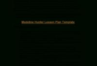 Microsoft Word – Madeline Hunter's Lesson Plan Format intended for Madeline Hunter Lesson Plan Template Blank