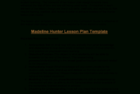 Microsoft Word – Madeline Hunter's Lesson Plan Format with regard to Madeline Hunter Lesson Plan Template Word