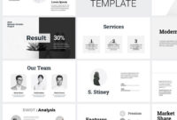 Minimal Clean Business Presentation Powerpoint Template within Replace Powerpoint Template