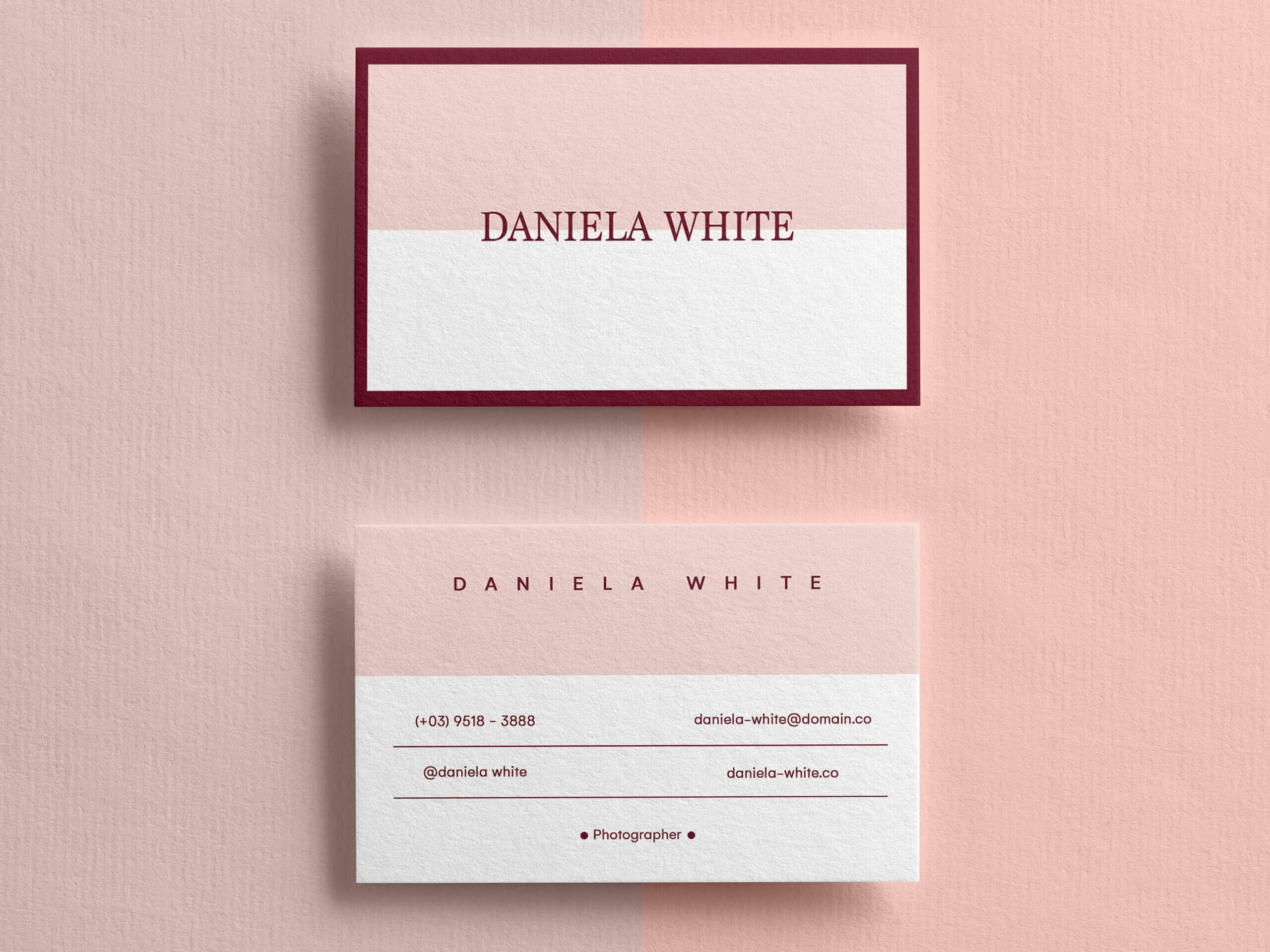 Minimalist Business Card, Modern Business Cards, Business For Template For Calling Card