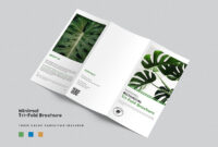 Minimalist Tri-Fold Brochure Template intended for Adobe Tri Fold Brochure Template