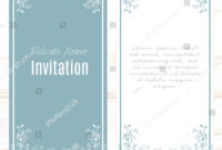 Minimalistic Blue White Greeting Card Template Stock Vector pertaining to Small Greeting Card Template
