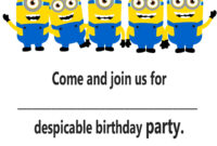 Minion Birthday Invitations : Minion Birthday Invitations pertaining to Minion Card Template