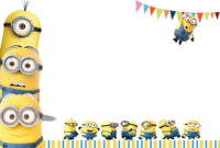 Minion Birthday Party Invitations Free Ideas | Birthday within Minion Card Template