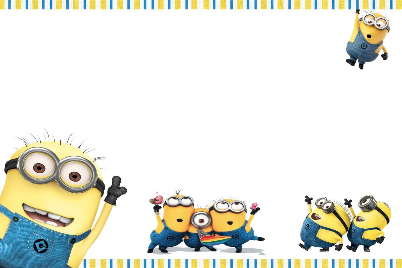 Minions Birthday Invitation Template Free Printable Throughout Minion Card Template