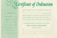 Minister License Certificate Template – Carlynstudio with Certificate Of License Template