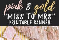 Miss To Mrs Banner – Free Printable | Bridal Shower Banner within Free Bridal Shower Banner Template