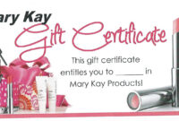 Mk Gift Certificate | Mary Kay intended for Mary Kay Gift Certificate Template