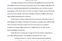 Mla Format: Template And Faq intended for Mla Format Word Template