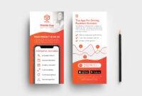Mobile App Dl Card Template V2 – Psd, Ai, Vector – Brandpacks in Dl Card Template