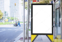 Mock Up Banner Template At Bus Shelter Media Outdoor City intended for Street Banner Template