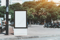 Mockup Of The Blank Information Poster In Urban Settings; An.. for Street Banner Template